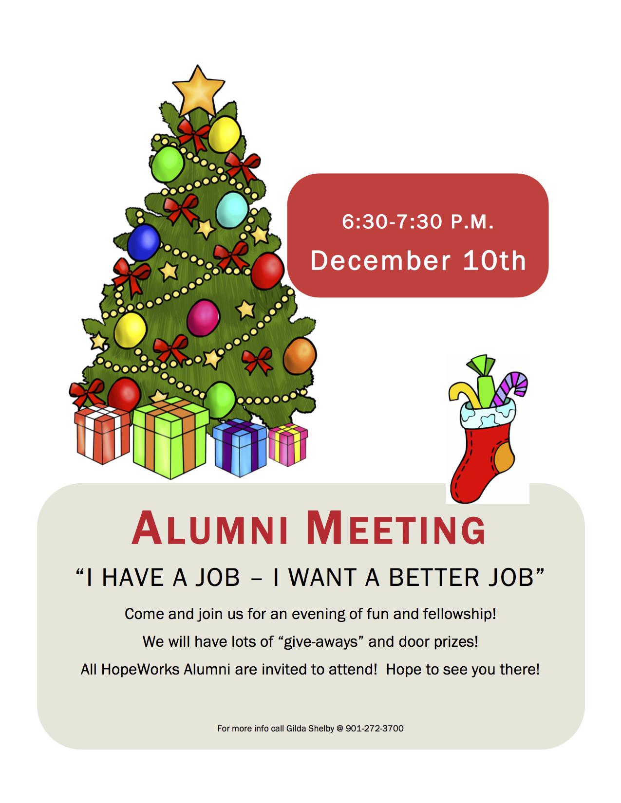 December Alumni Meeting